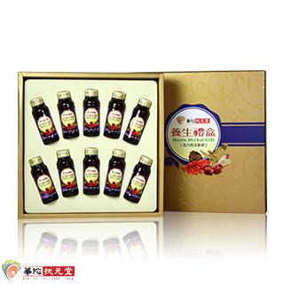 華陀扶元堂-活力西洋蔘飲禮盒1盒(10瓶/盒)