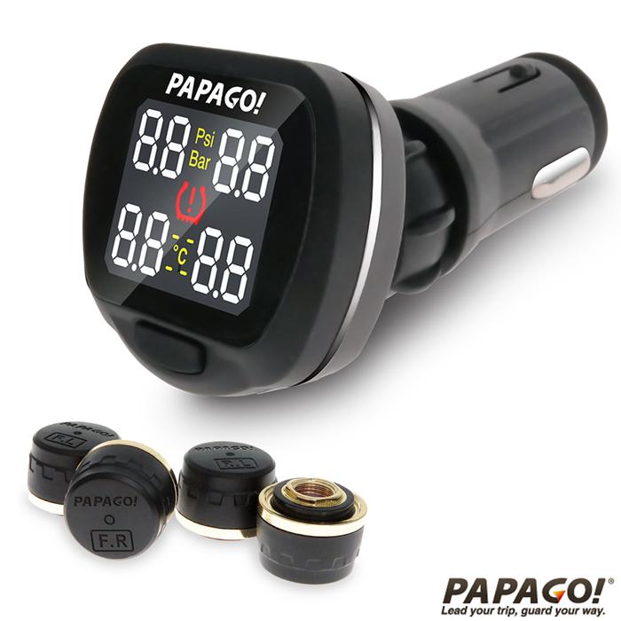 【促銷】PAPAGO TireSafe S20E獨立型胎外式胎壓偵測器(兩年保固)