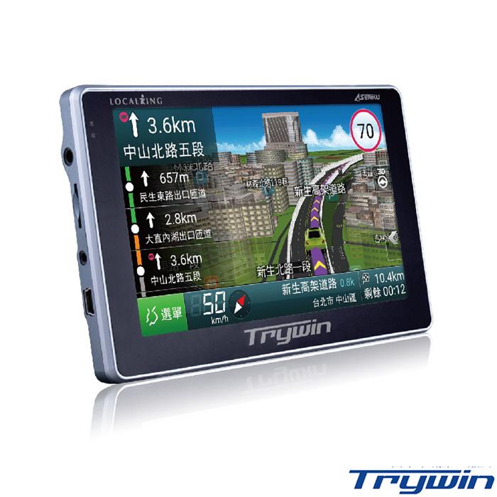 Trywin DTN-X688 5吋無線即時路況導航機+螢幕擦拭布