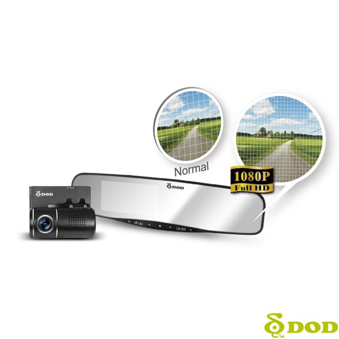DOD RX500W FULL HD 後視鏡型1080P前後雙鏡頭行車記錄器