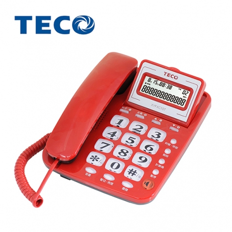 TECO 東元 大字鍵來電顯示 有線電話XYFXC107
