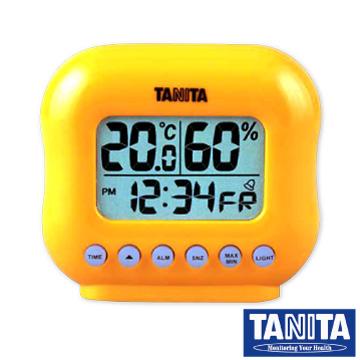 【TANITA】電子式溫溼度計(mini款)-橘色
