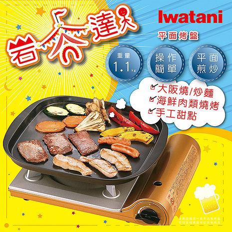【日本Iwatani】岩谷達人方形煎烤不沾平面大烤盤