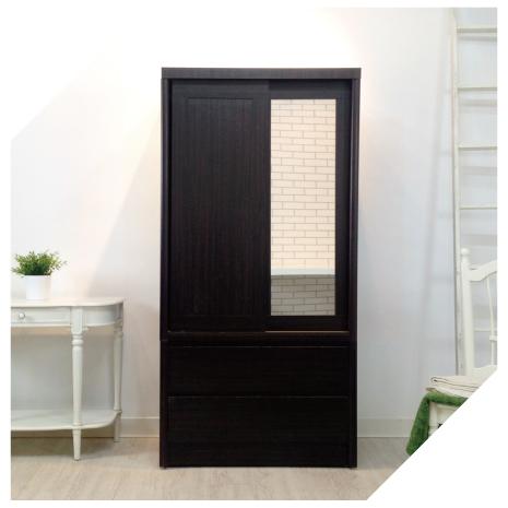 【YUDA】美化 3*6尺 A+木心板 推門/拉門+雙抽屜 衣櫥/衣櫃 新竹以北免運費