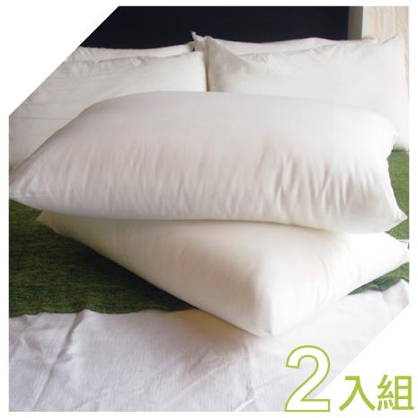 【YUDA】低枕 康派訊 100%純棉壓縮枕頭《二入》枕心/人體工學枕/旅館飯店用枕 台灣製造
