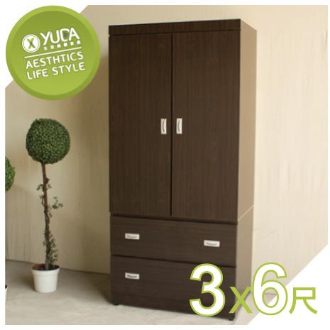 【YUDA】炫風【內門含鏡子】3*6尺 A+木心板 推門/拉門 衣櫥/衣櫃 新竹以北免運費