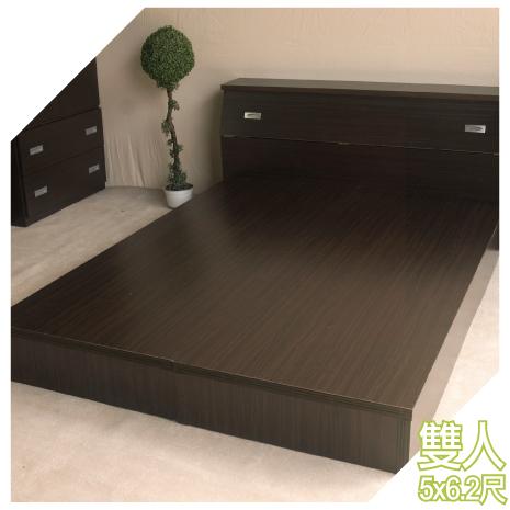 【YUDA】A+加厚 5尺雙人床底/床架/非掀床(六分床底)4色可選 新竹以北免運 租屋首選