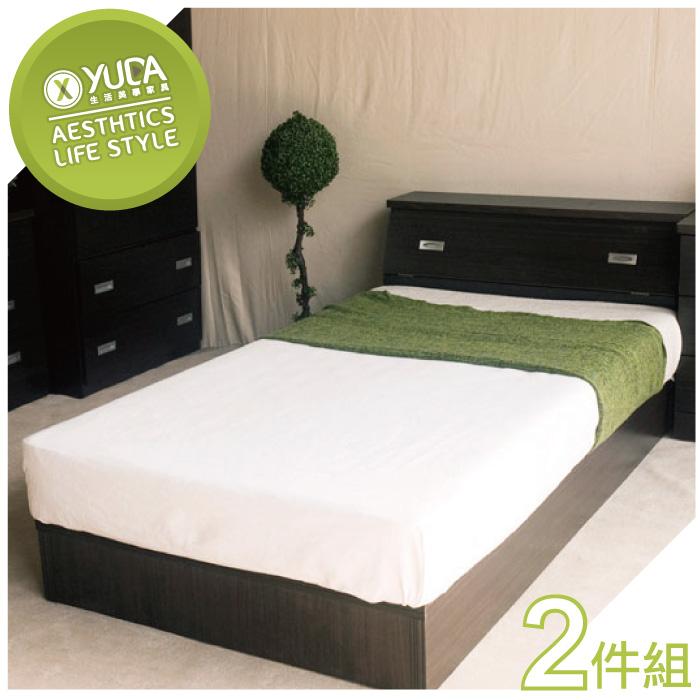 【YUDA】限時特賣 3.5尺單人 床架 床組 床底組 (床頭箱+床底)2件組 新竹以北免運費