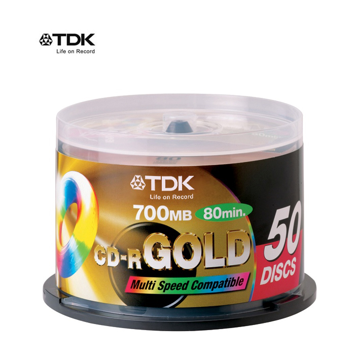TDK GOLD 52X CD-R 白金片 300片 金環帶