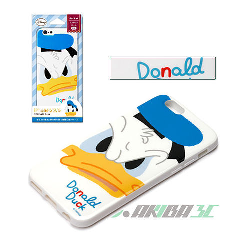 iJacket 迪士尼 iPhone 6/6s 4.7吋 大臉系列 軟式保護套 - 唐老鴨