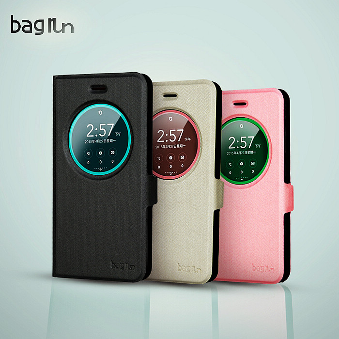 【Bagrun】Asus Zenfone 3 5.2吋 英倫開窗系列手機保護皮套