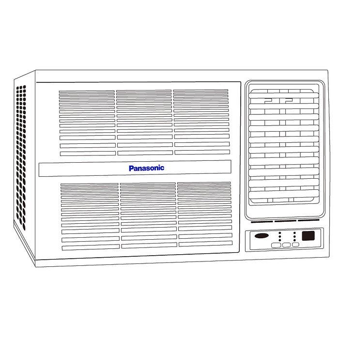 Panasonic 國際牌 2-4坪定頻右吹式窗型冷氣 (CW-L22S2) ★含標準安裝+舊機回收