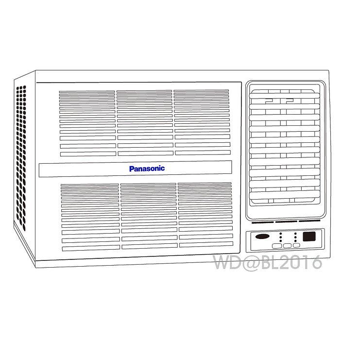 夏末降價送好禮Panasonic國際牌5~6坪定頻右吹式窗型冷氣(CW-G32S2)含標準安裝+舊機回收