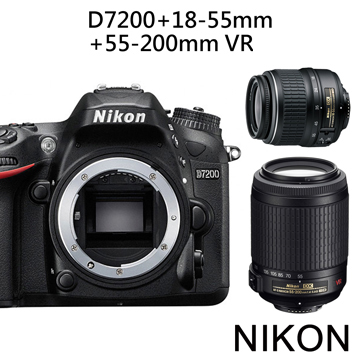 Nikon D7200 附18-55mm+55-200mm VR II雙鏡組*(中文平輸)~送SD64G+副電+單眼包等多重好禮