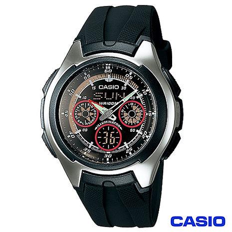 CASIO卡西歐潮流科技風格計時雙顯腕錶AQ-163W-1B2