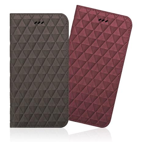 Araree iPhone 6/6S Plus 手工真皮鑽石紋皮夾側掀皮套 (正韓公司貨)