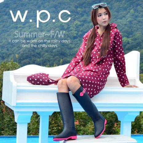 【w.p.c.】顯瘦修長款.時尚雨衣/風衣(R1005)-紅點點