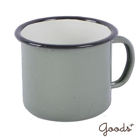 【goods+】復古琺瑯 經典素色咖啡8號矮杯_EC03(灰綠)
