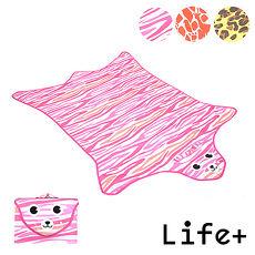 ~Life Plus~動物叢林  野餐墊遊戲墊 ^(粉色_虎紋^)