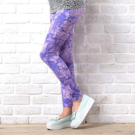 SHAPA CoolMax吸濕排汗內搭褲女紫色潑墨(預購)