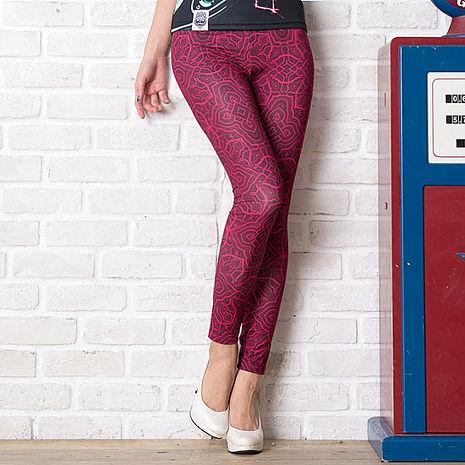 SHAPA CoolMax吸濕排汗內搭褲女紅色浪漫(預購)
