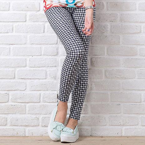 SHAPA CoolMax吸濕排汗內搭褲女彩色千鳥格(預購)