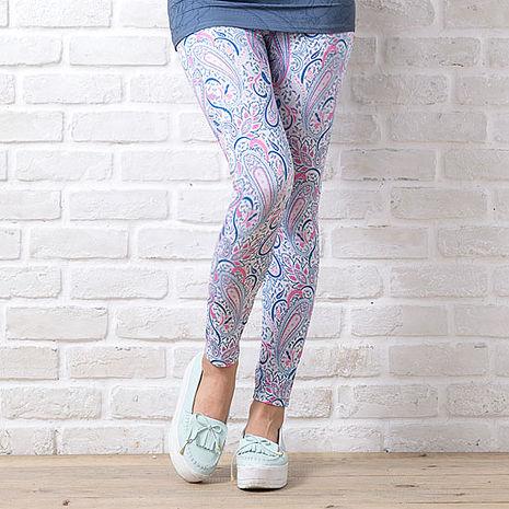SHAPA CoolMax吸濕排汗內搭褲女粉藍變形蟲(預購)