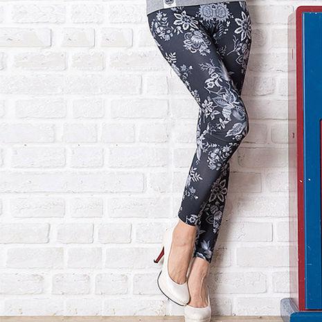 SHAPA CoolMax吸濕排汗內搭褲女古典花紋(預購)