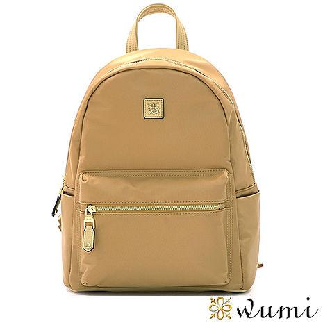 WuMi 無米 安潔莉輕盈尼龍後背包 牛奶糖杏