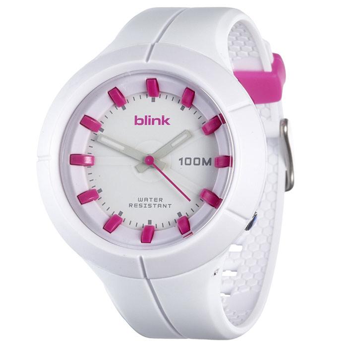 JAGA捷卡-blink AQ1008-D果凍繽紛潮流防水指針錶(白)