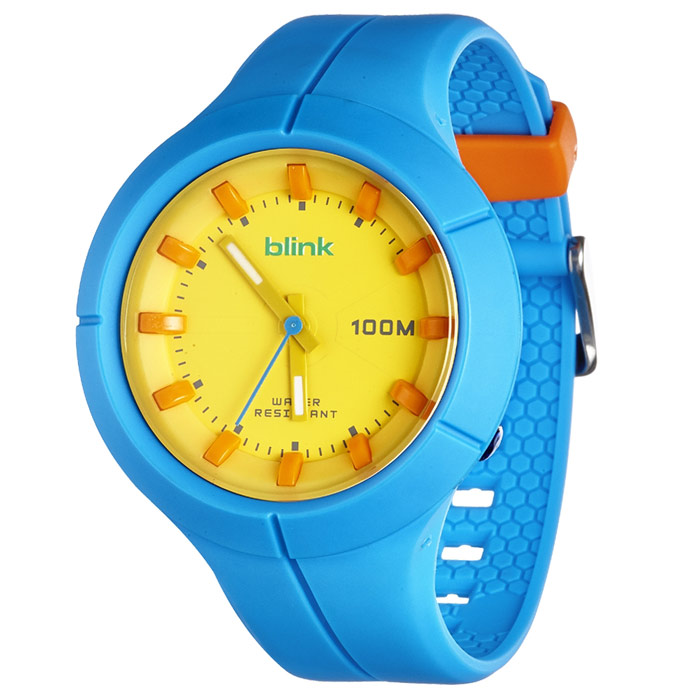 JAGA捷卡-blink AQ1008-E 果凍繽紛潮流防水指針錶(藍)