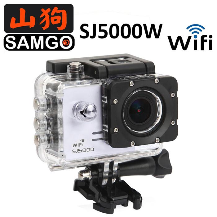 【SAMGO 山狗】SJ5000w WIFI 版 運動攝影行車紀錄器(銀色)【全配組】