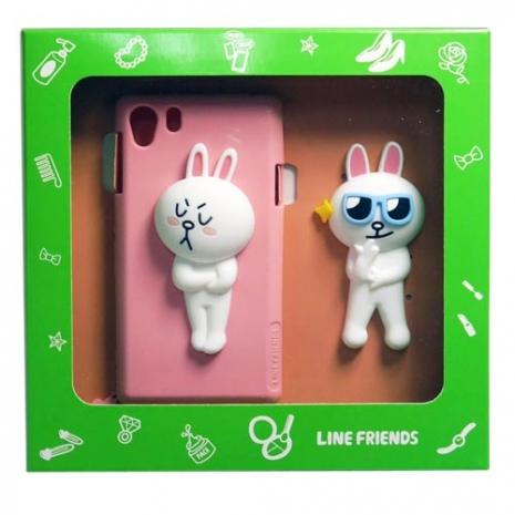 LINE Cony 兔  SONY XPERIA Z1 專用手機矽膠背蓋組