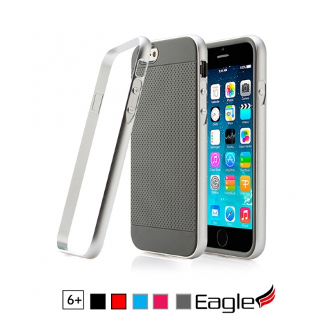 【Eagle 美國鷹】iPhone 6/6s Plus Hybrid Alloy Bumper 鋁框雙層保護殼(5色)