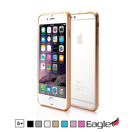 【Eagle 美國鷹】iPhone 6/6s Plus Slim Alloy Bumper 極細隱形扣鋁框(7色)