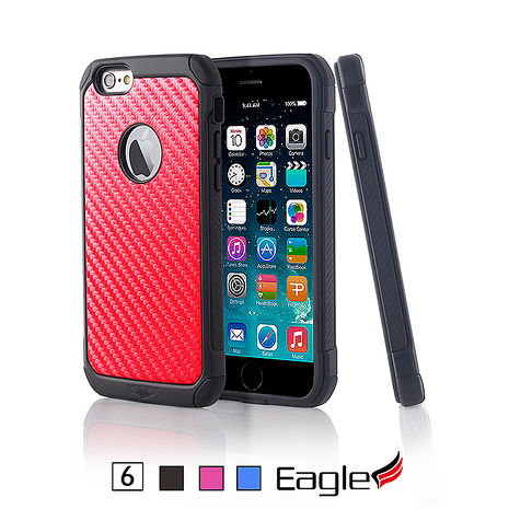 【Eagle 美國鷹】iPhone 6/6s Hybrid Carbon 雙層碳化纖維保護殼(3色)