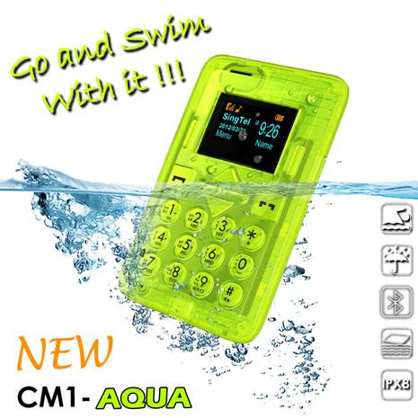 【CARD】 NEW CM1-AQUA 防水藍牙撥號名片機 (IPX8) 2G