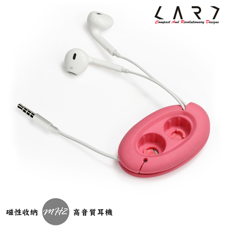 CARD MH2 高音質耳塞式重低音3.5mm耳機收納組 (粉紅色)