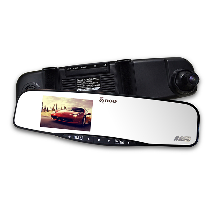 DOD RX400W 【贈16G卡】 後視鏡型 行車記錄器 測速照相警示 RX8W升級版