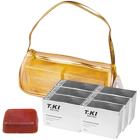 白人MIT TKI鐵齒蜂膠美顏皂禮盒*2組NO.800TKI
