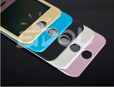 3D iPhone 6/Plus 鈦合金 鋼化玻璃膜 前+後膜 保護貼 金屬邊框 曲面