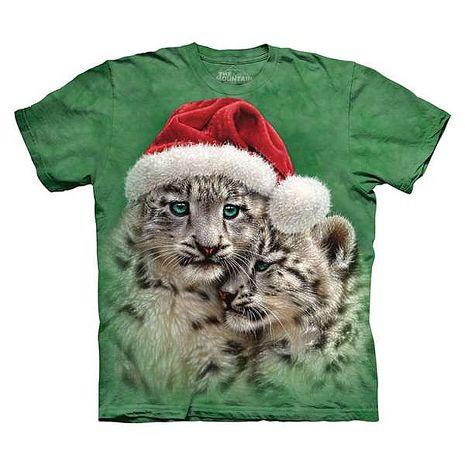 【摩達客】(預購)美國進口The Mountain 聖誕雪靴貓 純棉環保短袖T恤
