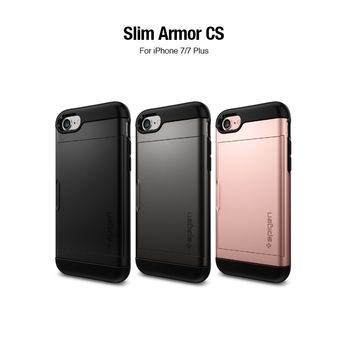 SGP  iPhone 7 Slim Armor CS-複合式卡夾防震保護殼組