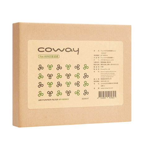 Coway 空氣清淨機AP-0808KH True Hepa濾網(4片入)