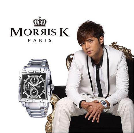 潮流悍將三眼流行腕錶-黑x銀/40mm 男錶 MK09011-CA20