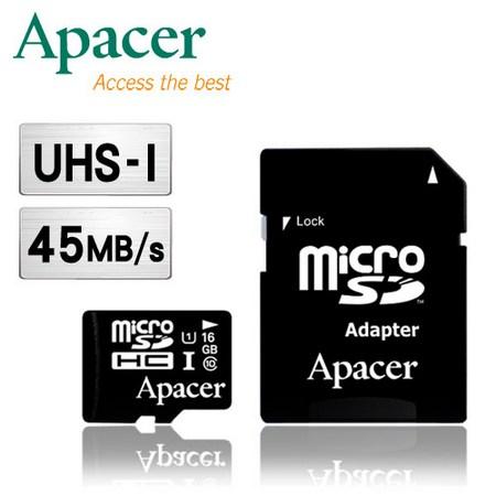 Apacer宇瞻 16GB MicroSDHC UHS-I Class10 記憶卡
