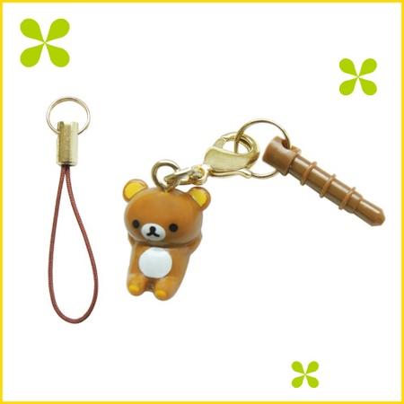 San-X 日版 享受優哉系列耳機塞-拉拉熊(躺姿) FR65501