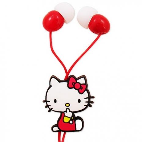 三麗鷗 Hello Kitty 糖果甜心 造型耳塞式 耳機  甜心紅 (KT-E14)