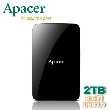 Apacer 宇瞻 AC233 2TB 2.5吋 USB 3.0 行動硬碟