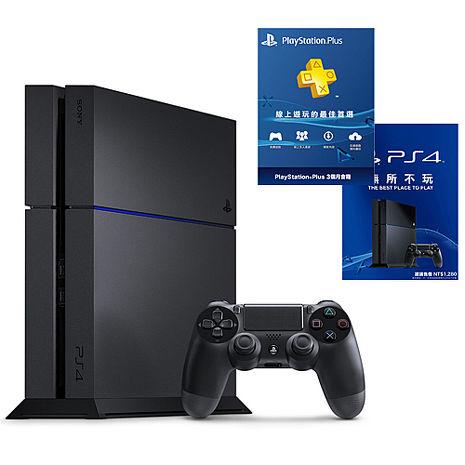 【預購】SONY PS4主機 CUH-1207BB01系列1TB - 極致黑+一年保固卡X1-專+3個月會籍X1-專